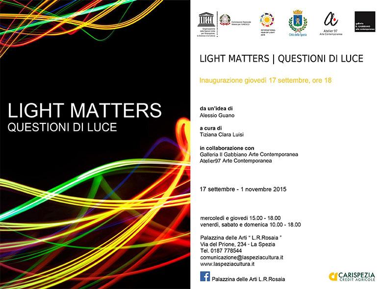 Invito Light Matters Questioni di Luce